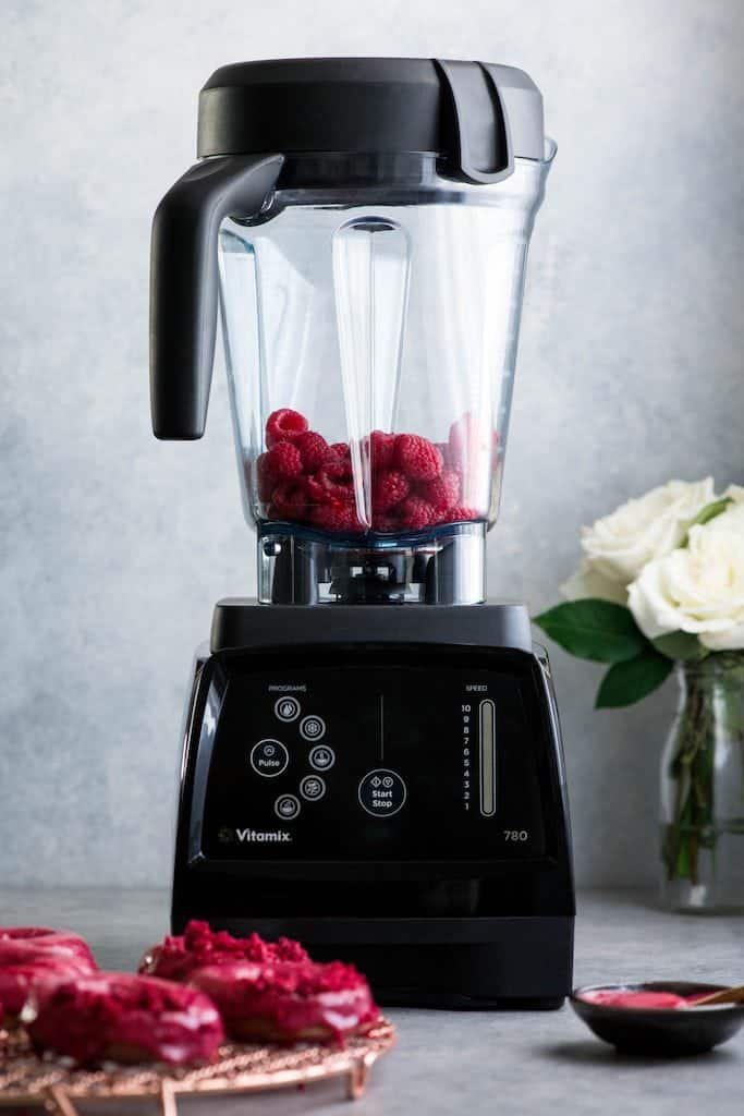 Front view of a black Vitamix 780 Blender in this post answering the question Which Vitamix is the Best? (Vitamix Comparison & Buying Guide)