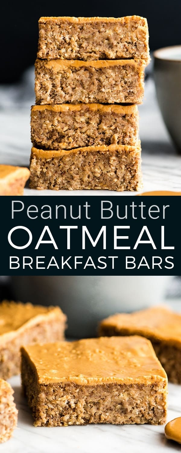 These are the BEST Healthy Breakfast Bars ever! I have eaten one every day for over a decade (seriously)! This easy recipe is made in one bowl in 30 minutes, and is loaded with fiber, protein & omega-3s to keep you full all morning long! Plus they're gluten-free, dairy-free, refined sugar free and vegan! #breakfastbars #oatmeal #peanutbutter #glutenfree #dairyfree #vegan #healthy #refinedsugarfree