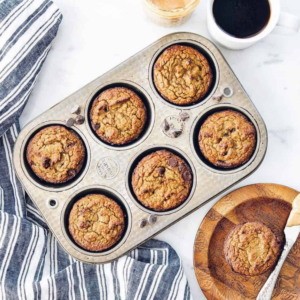Paleo Zucchini Banana Muffins! The perfect healthy breakfast recipe that delivers a serving of fruits AND veggies! Paleo, gluten-free & dairy-free!