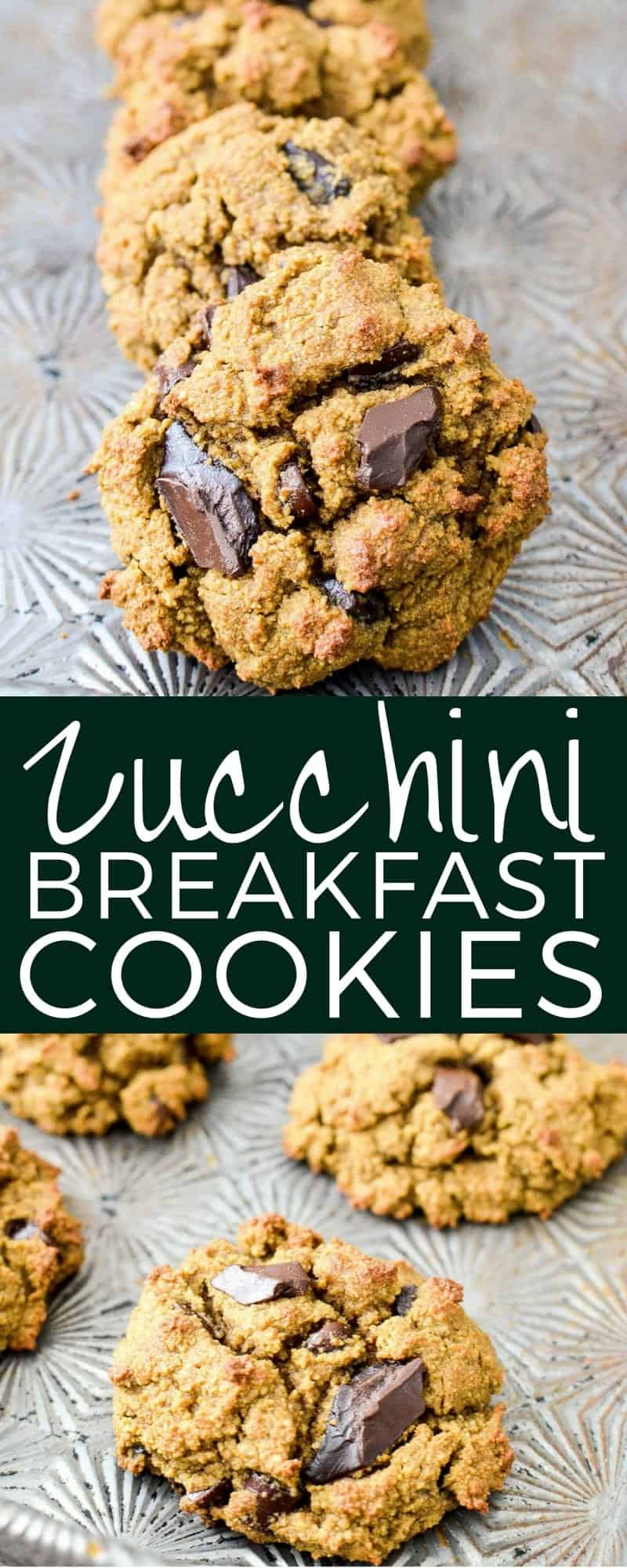 Paleo Zucchini Breakfast Cookies are a healthy and nutritious breakfast recipe loaded with sneaky veggies that tastes like dessert! #glutenfree #grainfree #dairyfree #breakfast #cookies #zucchini #paleo #healthybreakfast #healthyrecipe