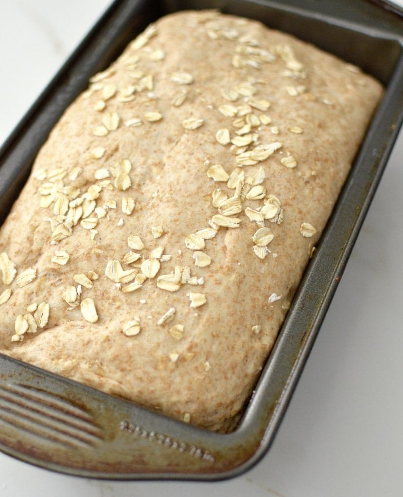 Homemade Honey Oatmeal Bread Recipe! This bread is made using whole wheat flour and oatmeal. It's dairy-free, refined-sugar free and out of this world delicious!