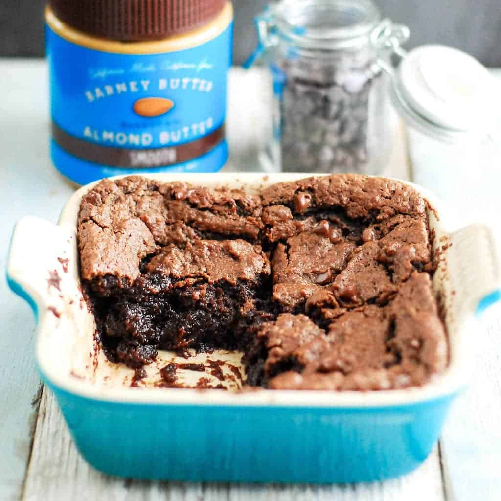 Gooey Fudgy Paleo Brownies! Ready in 15 minutes flat these are the best brownies ever. Seriously! Ever! Plus, they're gluten-free, dairy-free, vegan, AND paleo!