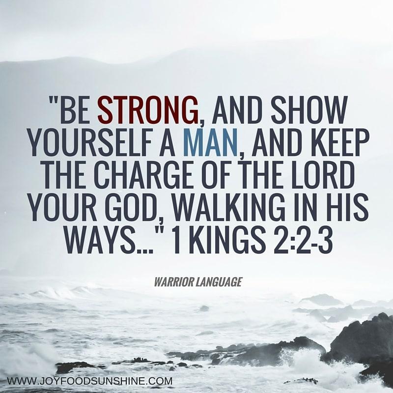 1 kings 2:2-3