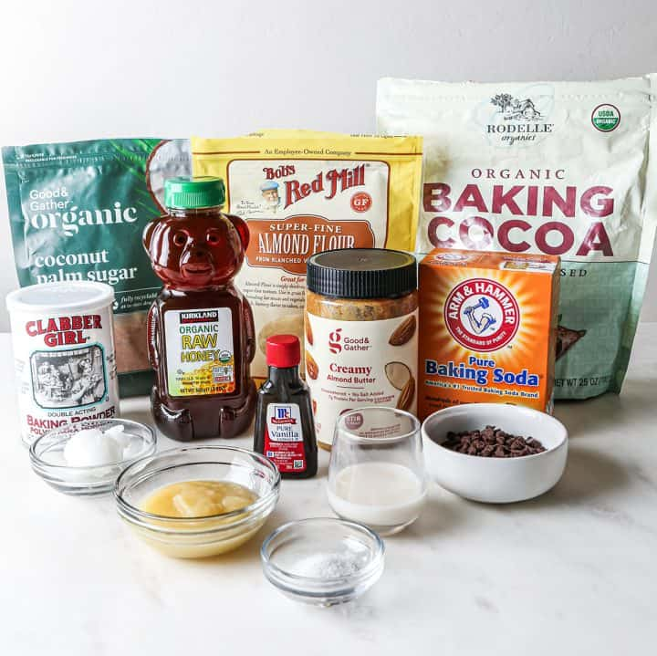 photo of the ingredients in this paleo brownie recipe