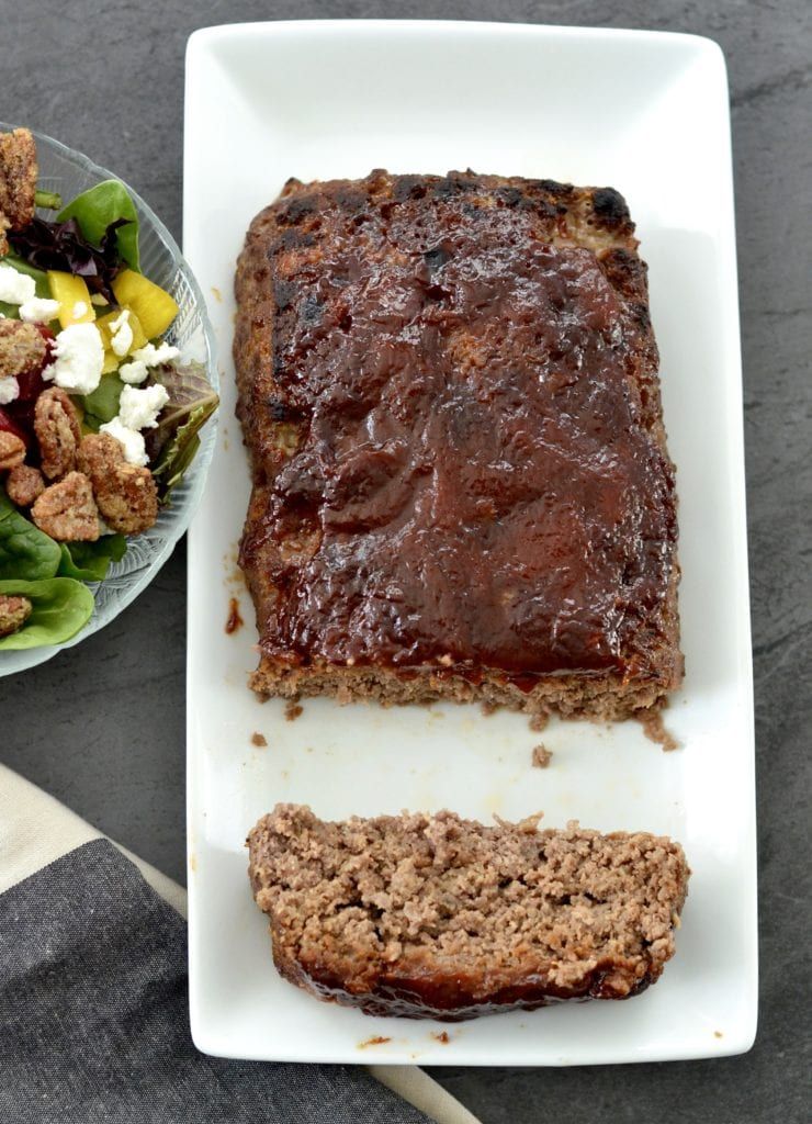 Gluten-free & Paleo-friendly Meatloaf Recipe! Traditional meatloaf gets a makeover! This healthier version is the perfect weeknight dinner! Husband & toddler approved!