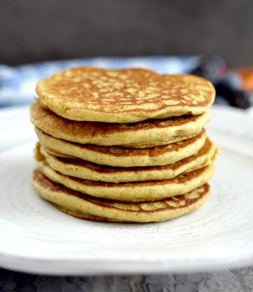 Zucchini Banana Oatmeal Pancakes Recipe! Healthy breakfast made in your blender! Gluten-free, dairy-free, refined-sugar free & full of fruit and veggies! #sneakyveggies #joyfoodsunshine
