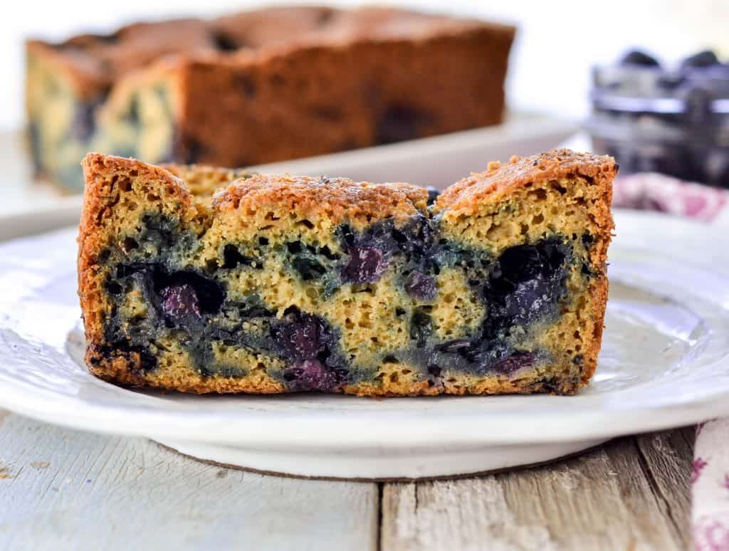 Healthy Zucchini Blueberry Bread! Recipe The perfect breakfast or snack packed full of fruits and vegetables! Gluten-free and refined-sugar free!