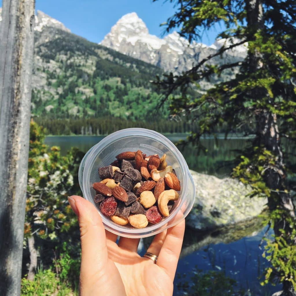 Snacks in the mountains in the Complete Guide to Hiking with Kids