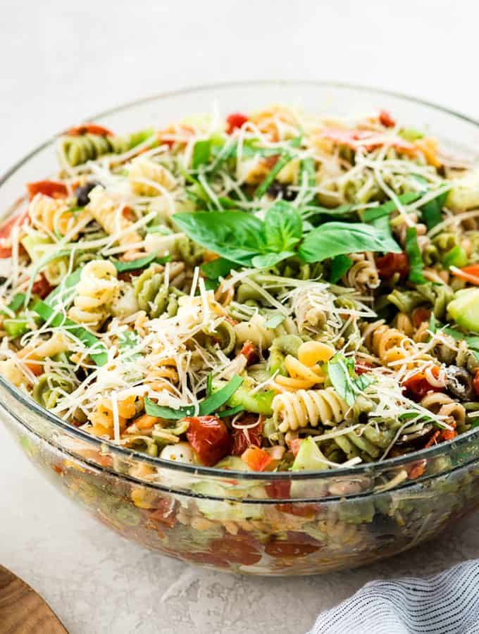 Best Pasta Salad Recipe with Homemade Dressing