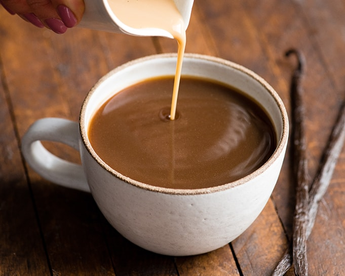 I do recommend warming the frozen vanilla coffee creamer in the microwave in your coffee mug before adding the coffee so that it doesn't cool it off too ...