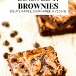 2 Black bean brownies with description and title.