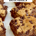 6 blondies that are in rows of 3.