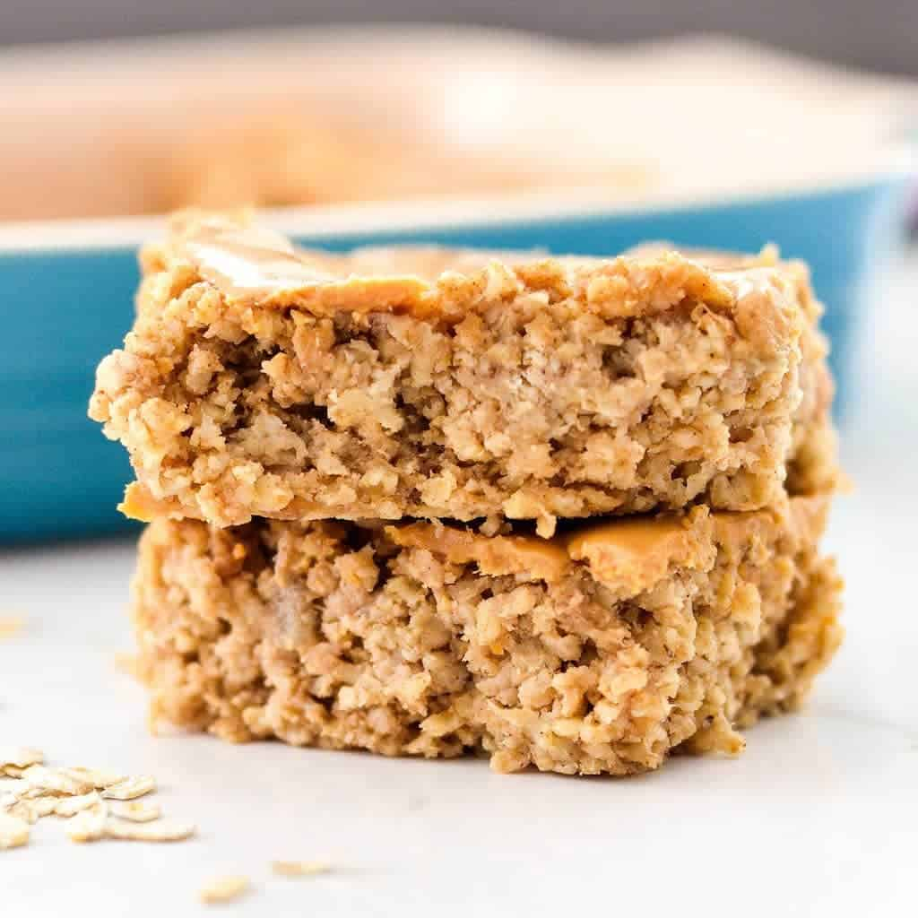 Peanut Butter Banana Baked Oatmeal {Video}! - JoyFoodSunshine
