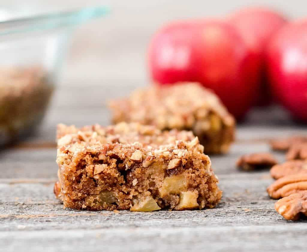 front view of one piece of Paleo Apple Cake