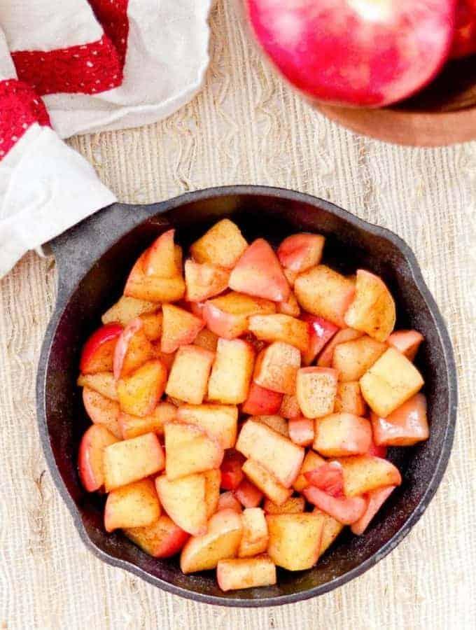 Stovetop Cinnamon Sautéed Apples