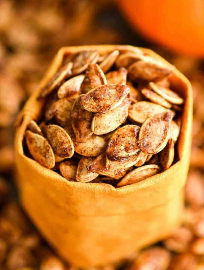 Homemade Cinnamon Sugar Pumpkin Seeds