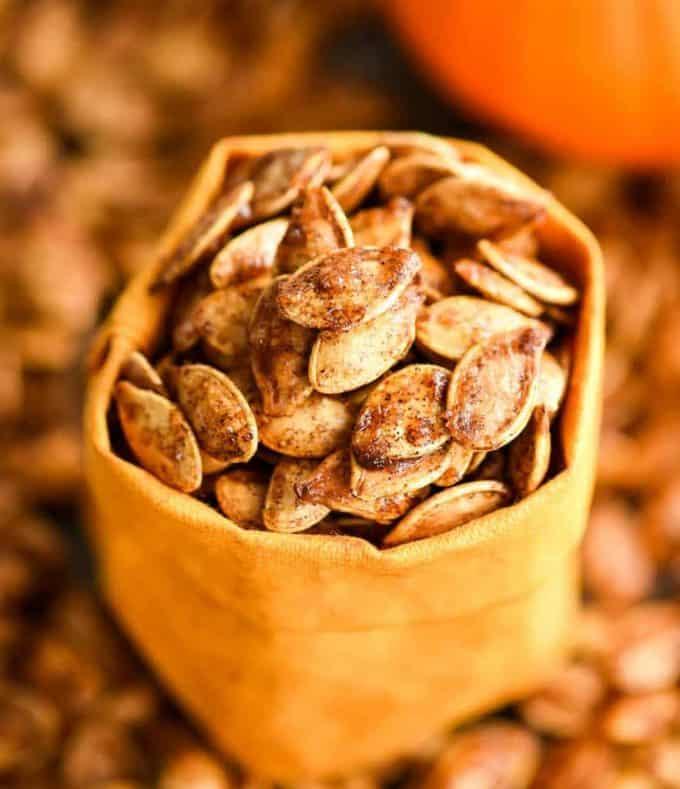 Homemade Cinnamon Sugar Pumpkin Seeds Joyfoodsunshine