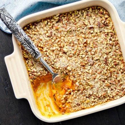 Healthy Sweet Potato Casserole {Paleo, Vegan & Sugar-Free}!