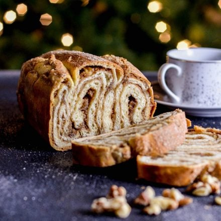 Walnut Cinnamon Swirl Bread (Povitica)