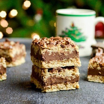 No-Bake Chocolate Peanut Butter Oat Bars