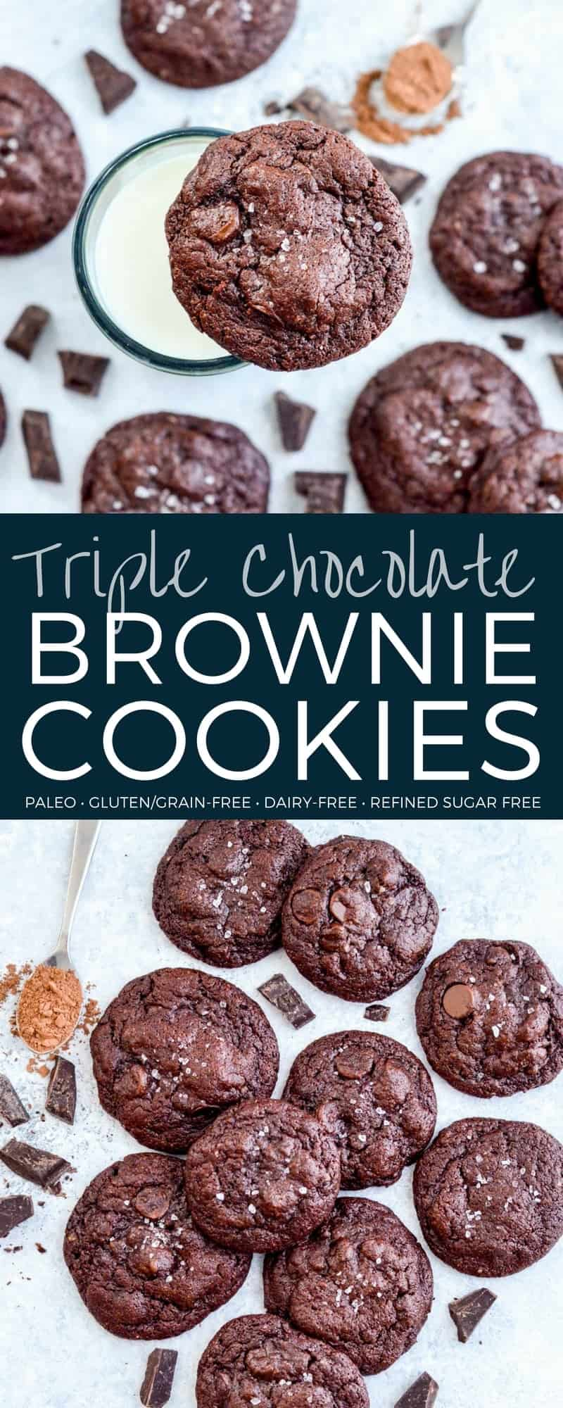 These Paleo Chocolate Cookies are the most fudgy, chocolatey cookies you will ever eat, and you'll never believe they're paleo, grain-free, gluten-free, dairy-free and refined-sugar free! #chocolate #cookies #paleo #glutenfree #grainfree #dairyfree