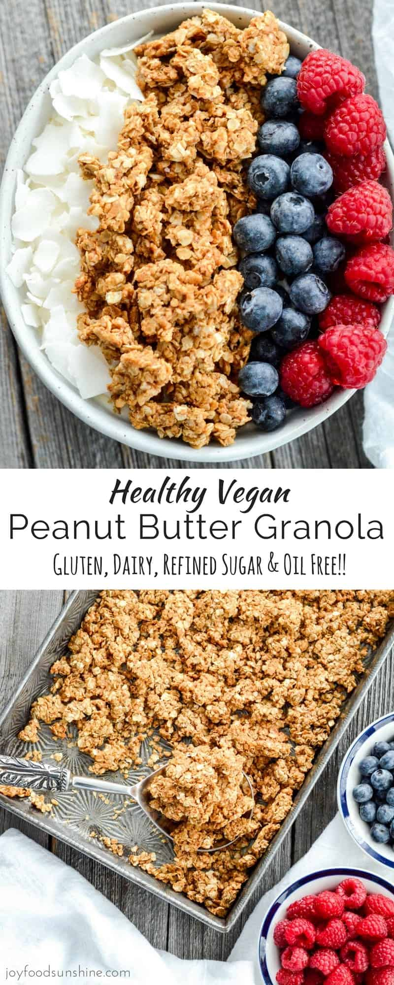 Healthy peanut butter granola joyfoodsunshine this healthy peanut butter granola is the perfect make ahead breakfast recipe with only ccuart Image collections