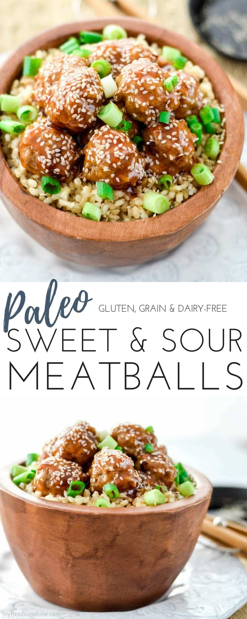 Paleo Sweet and Sour Meatballs! The perfect healthy, quick & easy weeknight recipe that everyone in your family will love! #paleo #meatballs #dinner #recipe #glutenfree #dairyfree #grainfree