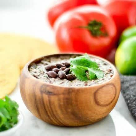 10 Minute Homemade Refried Black Beans