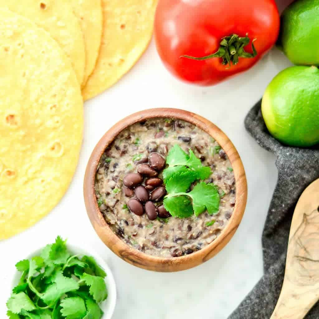 10 Minute Homemade Refried Black Beans Joyfoodsunshine