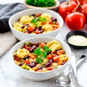 30 Minute Tortellini Vegetable Soup