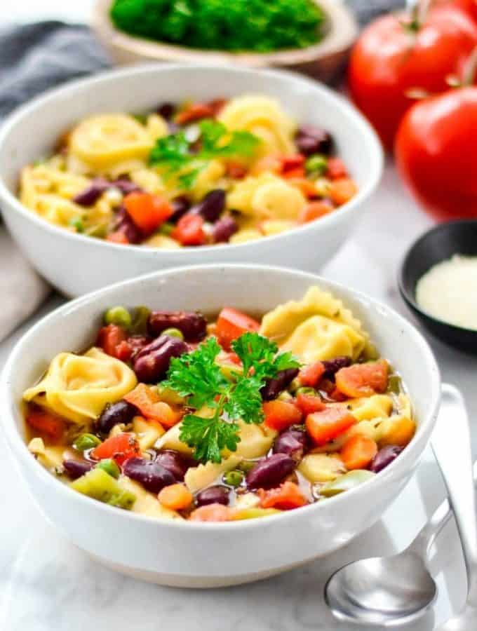 Easy Tortellini Soup Recipe (30 Minutes)!