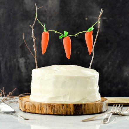Healthy Carrot Pineapple Cake
