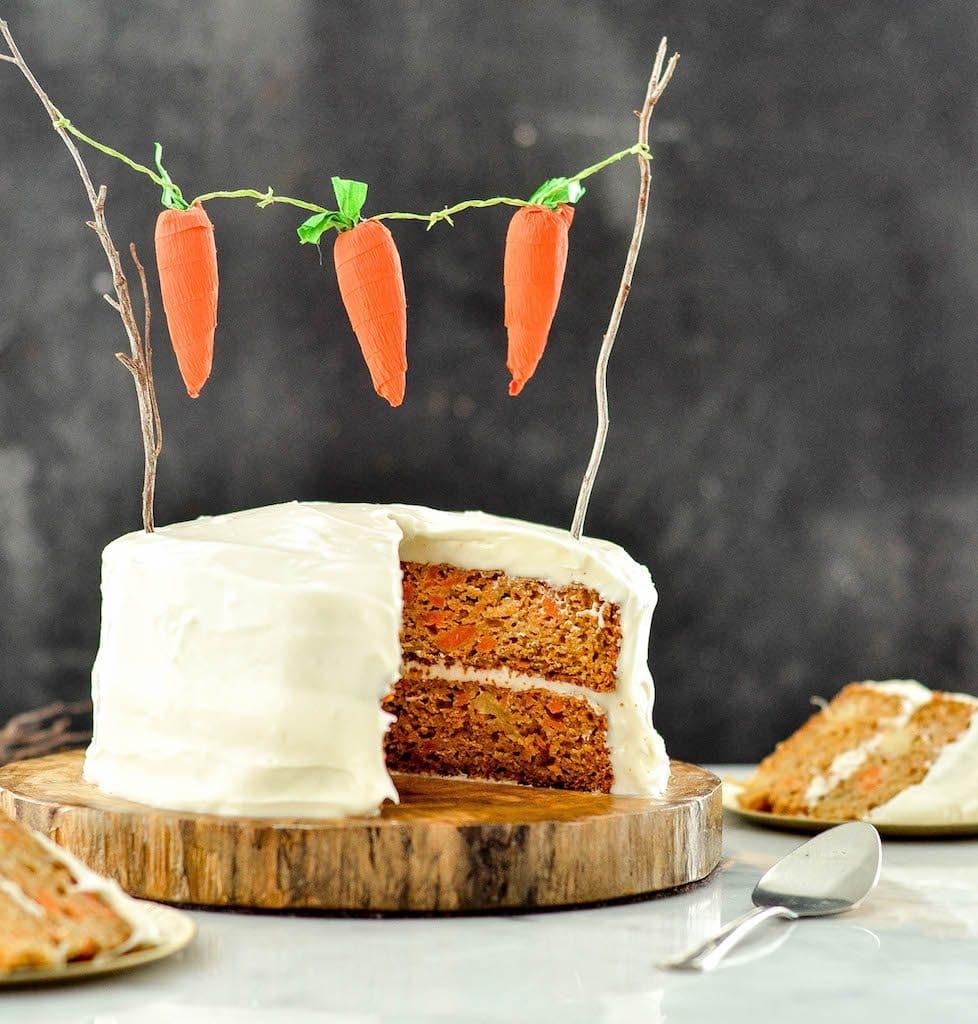 Pineapple Sunshine Cake: Healthy Carrot Pineapple Cake