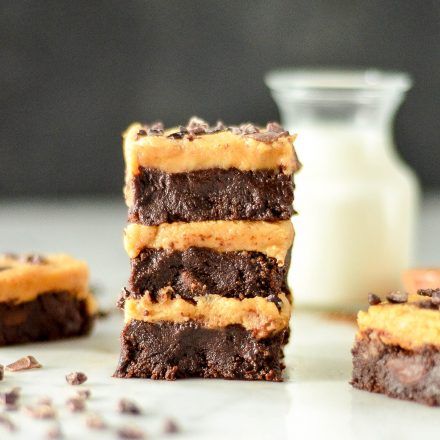 Flourless Chocolate Peanut Butter Brownies