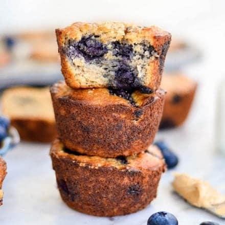 Paleo Blueberry Banana Muffins {gluten & dairy-free}