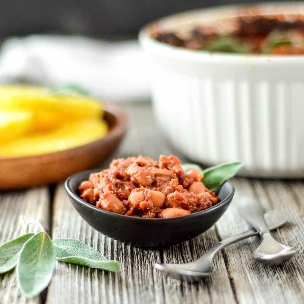 These Healthy Vegan Baked Beans with Pineapple are the perfect side dish for your summer BBQ. They are gluten-free and refined sugar free! Kid friendly and husband approved!