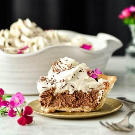 Homemade French Silk Pie from Scratch {Guest Post on Oh, Sweet Basil}!
