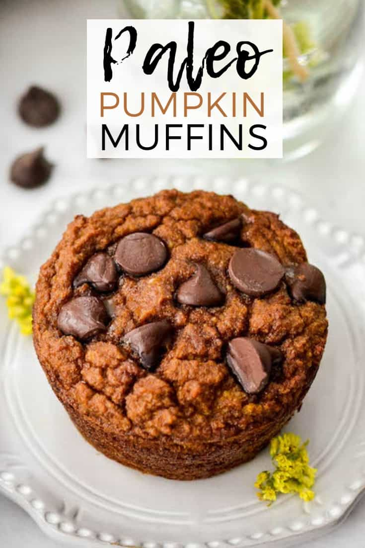 Paleo Pumpkin Muffins are a simple and healthy breakfast recipe! They are ready in 30 minutes & freezer friendly! Plus they are gluten-free, grain-free, dairy-free and have no refined sugar! #paleo #muffins #glutenfree #dairyfree #grainfree #paleomuffins #pumpkinmuffins #pumpkin #breakfast
