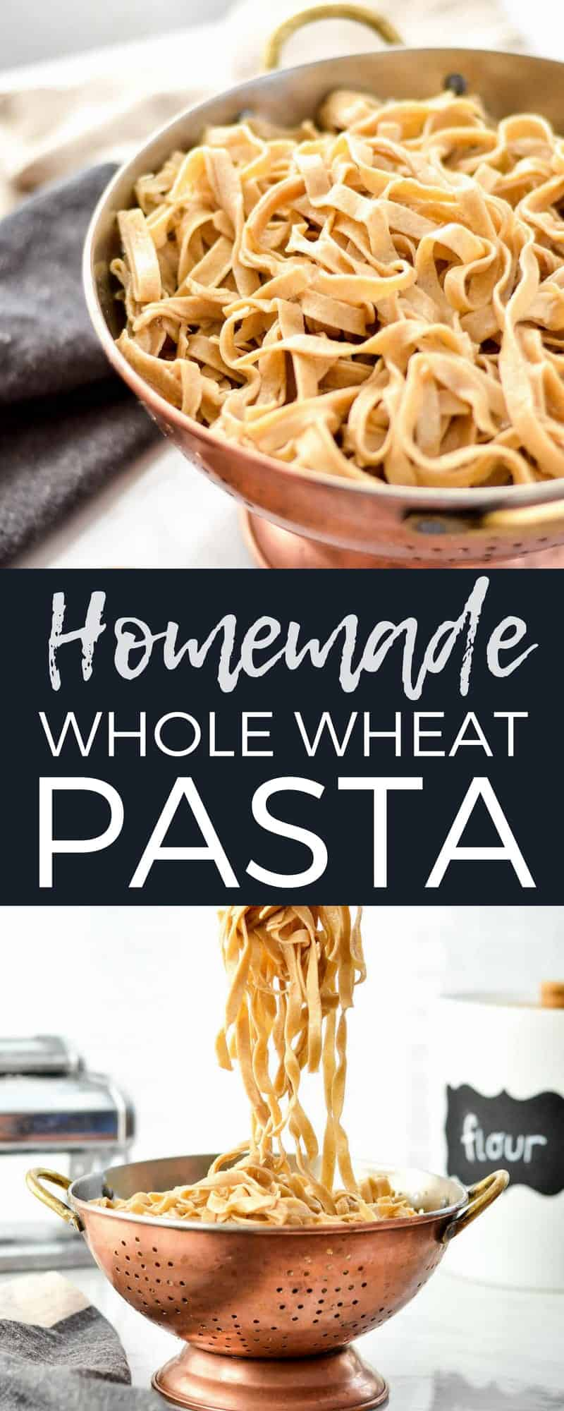 This Homemade Whole Wheat Pasta is the best homemade pasta recipe that taste's worlds better better than boxed varieties! Use it in a delicious main dish or serve it as a yummy side dish! #homemade #pasta #wholewheat #homemadenoodles #pastamaker