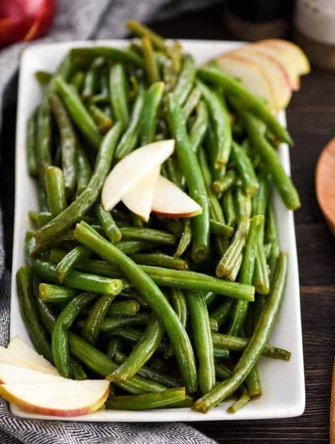 Sautéed Green Beans Recipe with Apple Cider