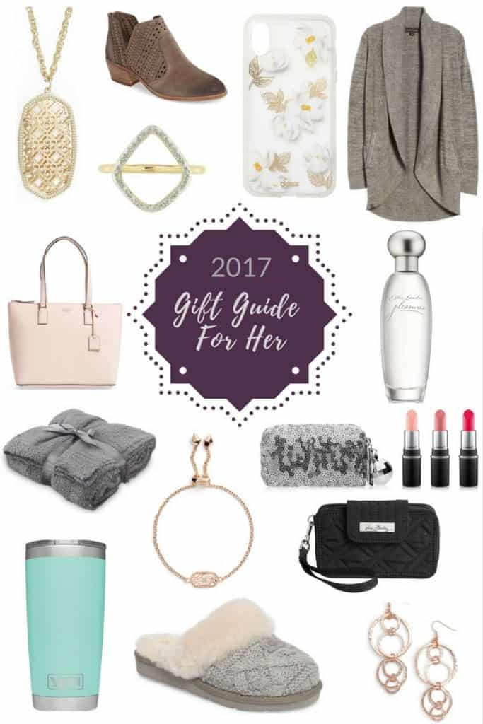 2017 Holiday Gift Guide For Her! Christmas gift ideas for women! #christmas #giftguide #gifts #mom #giftsformom @joyfoodsunshine
