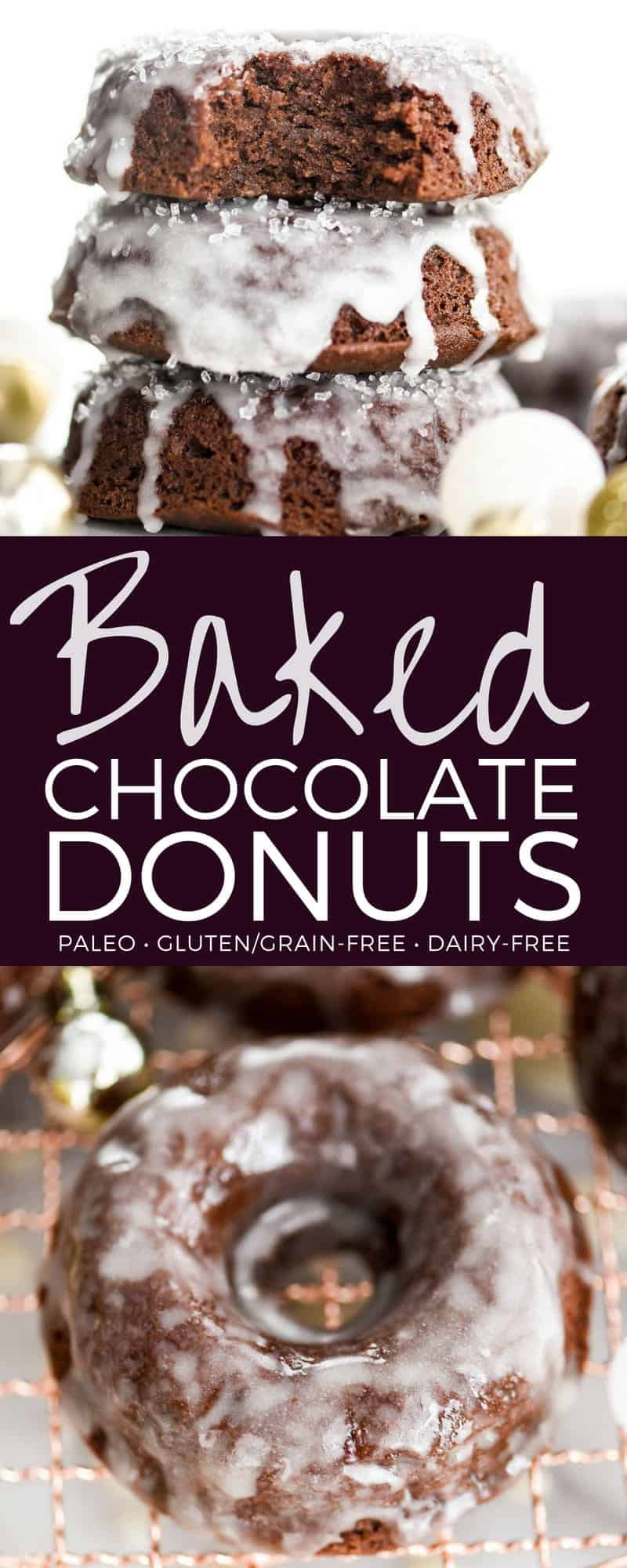Paleo Baked Chocolate Donuts White Chocolate Glaze are a healthy yet indulgent breakfast recipe! They have the perfect texture and a rich chocolate flavor! Gluten-free, grain-free, & no refined sugar! #baked #donuts #chocolate #paleo #glutenfree #grainfree #chocolatedonuts #bakeddonuts #healthybreakfast #dairyfree
