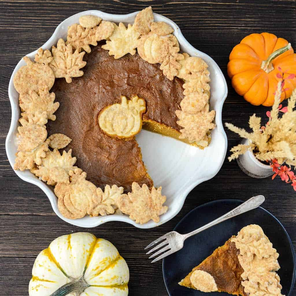 The BEST Classic Pumpkin Pie Recipe Ever! Made completely from scratch (NO sweetened condensed milk here)! It's THE pie you need to make on Thanksgiving this year!