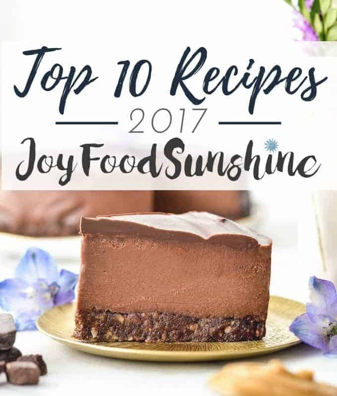 Top 10 Recipes from JoyFoodSunshine 2017