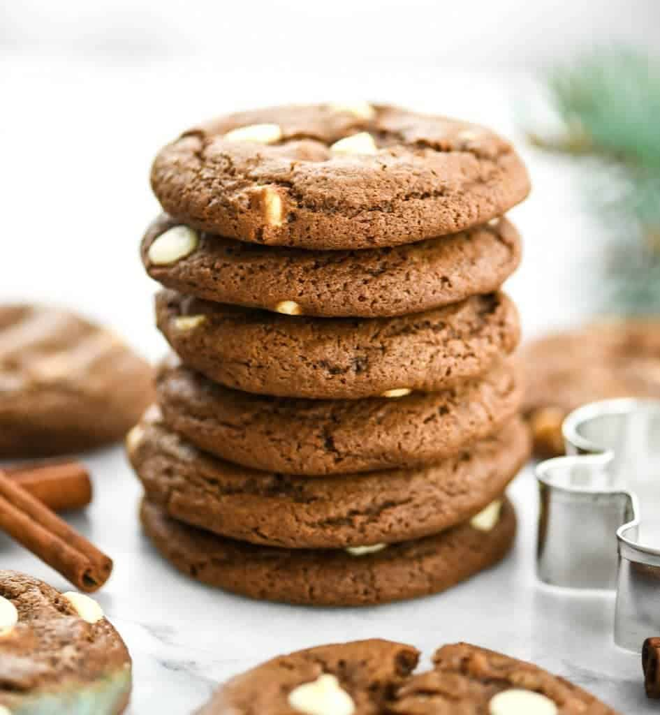 White Chocolate Chip Gingerbread Cookies Joyfoodsunshine