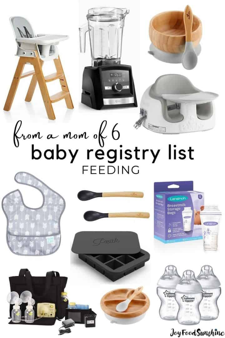 baby registry list feeding