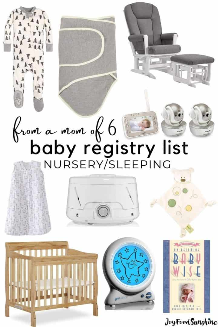 Baby Registry List Sleeping