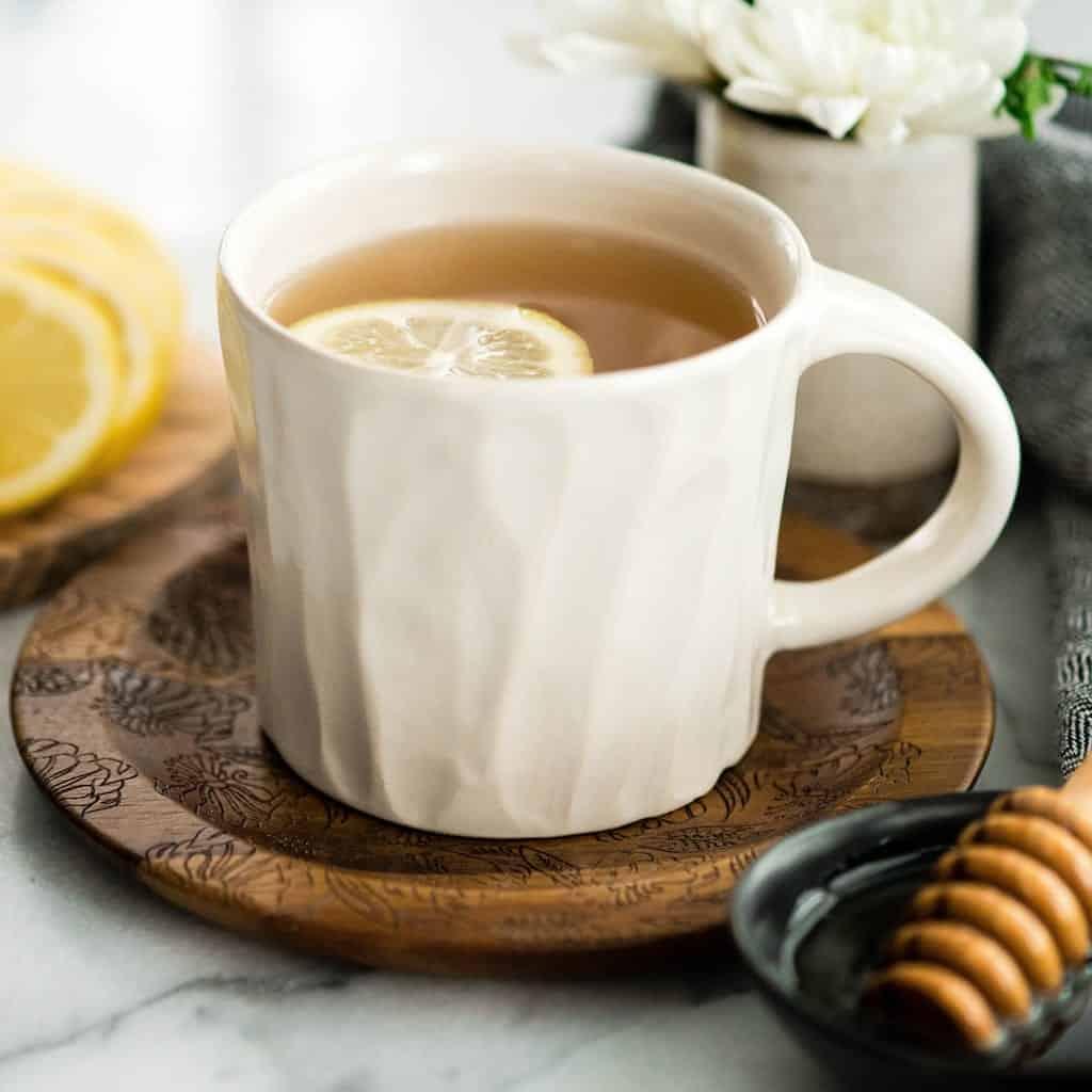 Font view of a mug of Immune Boosting Tea Recipe