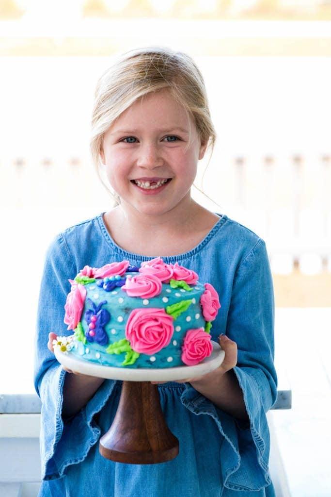 Moments 01.2018 JoyFoodSunshine Birthday cake with homemade vanilla frosting!