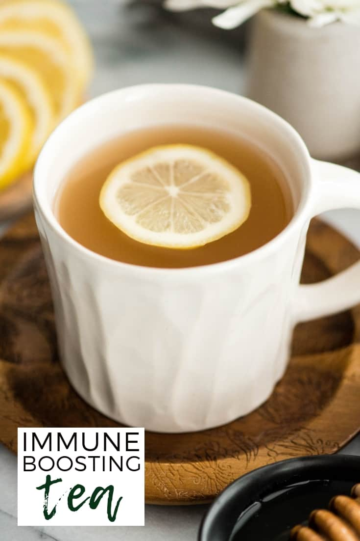 Immune Boosting Tea Recipe is a home remedy that will boost your immune system, fight colds, ease a sore throat and calm your cough! I call it the